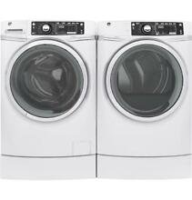 GE Laundry Pair White Washer GFW490RSKWW   GFD49ERSKWW Dryer  W  Steam