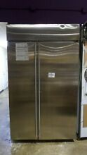 ZISS480NKSS MONOGRAM 48  STAINLESS STEEL BUILT IN SIDE BY SIDE REFRIGERATOR