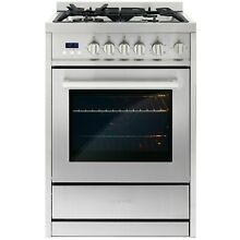 24 in  2 73 Cubic Feet  Single Oven Gas Range with 4 Burner Cooktop