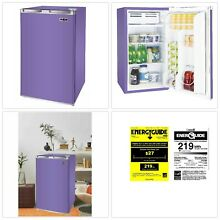 Mini Fridge Purple RCA 3 2 Cu Ft Single Door Compact Beverage Food Refrigerator