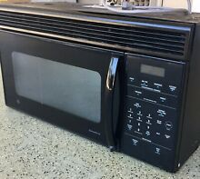 General Electric GE Over the range Microwave Oven Black 1 3cu Ft