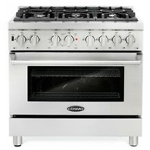 36  4 5 cubic ft  Dual Fuel Gas Range European Convection Oven 6 Italian Burners