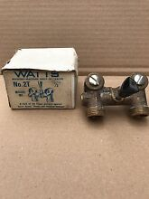 Watts Washing Machine Shut Off Valve W  Ball Type Construction No 2T M1  1 2   L