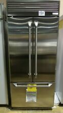 ZIPP360NHSS  MONOGRAM 36  STAINLESS STEEL BUILT IN FRENCH DOOR REFRIGERATOR