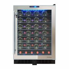 54 Bottle Touch Screen Mirrored Wine Cooler