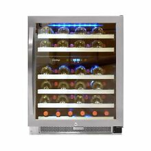 Vinotemp 46 Bottle Dual Zone Connoisseur Series Wine Cooler  Stainless