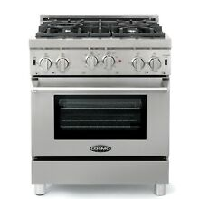 COMMERCIAL STYLE 30 IN  3 9 CU  FT  GAS RANGE WITH 4 ITALIAN BURNERS