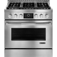 Jenn Air JGRP436WP Pro Style 36  Gas Range with MultiMode Convection Stainless