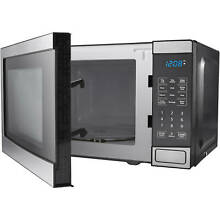 Mainstays EM720C2WT PM 0 7 cu ft Microwave Oven  Stainless Steel