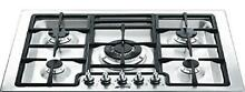 Smeg PGFU30X 30  Classic Gas Cooktop with 5 Gas Burners  Stainless Steel