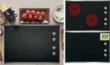 GE 30 in Cooktop Smooth Surface  Radiant  Black Stainless Steel Electric Cooktop
