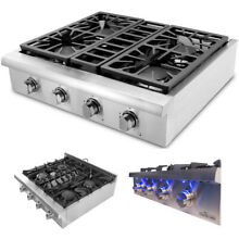 THOR KITCHEN 30 inch Stainless Pro Style Gas Rangetop Cooktop 4 Burners HRT3003U