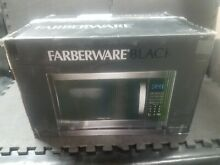 Farberware Black FMO12AHTBSG 1 2 Cu  Ft  1100 Watt Microwave Oven with Grill wit