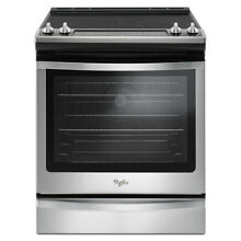 Whirlpool 30  6 4 cu ft Self Cleaning Convection Slide in Electric Range