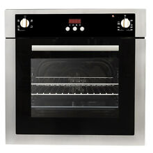 24  2 cu ft Single Electric Wall Oven Stainless Steel True European Convection