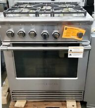 NEW OUT OF BOX FISHER PAYKEL 30  PRO STYLE GAS RANGE STAINLESS STEEL 5 BURNERS