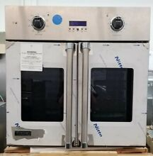 NEW OUT OF BOX VIKING FRENCH DOOR SINGLE WALL OVEN 30  STAINLESS STEEL