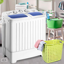 Portable Mini Twin Tub Washing Machine Compact Washer Spin Dryer 11 lb White New