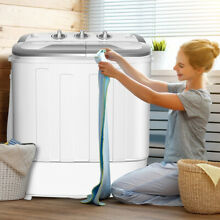 Compact 8 lbs Mini Twin Tub Washing Machine Washer Spinner Drying Laundry New