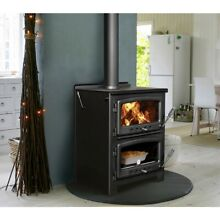 Nectre N350 Wood Burning Stove With Cook Top   Oven