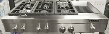 Jenn Air JGCP548WP Stainless Steel 48  Pro Style Gas Cooktop With Griddle