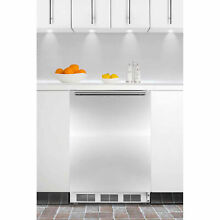 Summit 5 1 Cu  Ft  Built In Undercounter Refrigerator Freezer  White Stainless