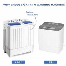 Portable Quality Mini Compact Twin Tub 17 6lbs Washer Spin Dryer Washing Machine