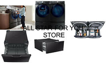 Samsung Black stainless steel 14 2 in x 27 in Universal Laundry Pedestal