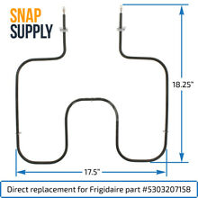 Snap Supply Bake Element for Frigidaire Directly Replaces 5303207158