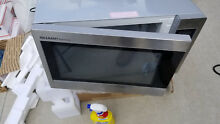 Stainless Steel 2 2 cu ft 1 200 Watt Countertop Microwave with LED Display