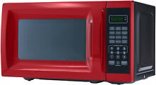 Mainstays 0 7 Cu  Ft  700W Red Microwave With 10 Power Levels