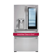 LG 36  4 Door French Door Refrigerator Door in Door Stainless Steel LMXS30796S