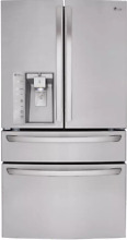 LG 36  French Door Refrigerator Water Ice Dispenser Stainless Steel LMXS30786S