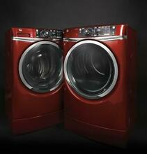 GE GFW490RPKRR Washer   GFD49ERPKRR Dryer Ruby Red Laundry Set W  Steam