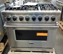 NEW OUT OF BOX  VIKING 36  DUAL FUEL RANGE 6 BURNER STAINLESS STEEL