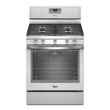 Whirlpool WFG540H0EH 30  Freestanding Counter Depth White Ice Gas Range