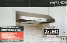 NEW Presenza QR045 30 in Under Cabinet Range Hood in Stainless Steel with 2X LED