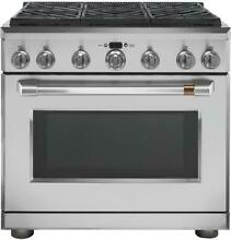 GE Cafe C2Y366P2MS1 36  Dual Fuel Professional Range W  6 Burners  Natural Gas