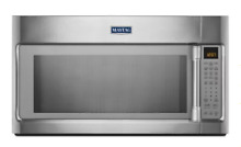 Maytag MMV6190DS 1 9 cu  ft  Over the Range Microwave Oven with 1000 Watts