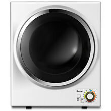 Electric Tumble Compact Cloth Dryer Stainless Steel Wall Mounted 1 5 cu  ft