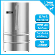 SMAD 20 7 Cu Ft Refrigerator French Door Fridge Freezer Kitchen Auto Ice Making