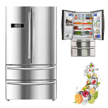 SMAD 20 7 Cu Ft French Style 4 Door Refrigerator Auto Ice Making Fridge Freezer