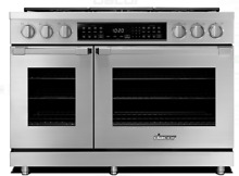 Dacor HDPR48SNGH 48 Inch Dual Fuel Pro Range with Simmer Sear  Burners