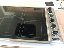 Viking Professional VICU1656BSB 36  Stainless   Black Electric Induction Cooktop