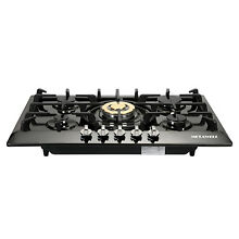 Black Titanium Plated 30  5 Burners Built In Stove Cooktop Gas NG LPG Hob Cooker
