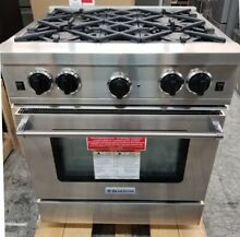 BLUESTAR 30  STAINLESS STEEL SEALED BURNER  RANGE 4 BURNER REFURBISHED