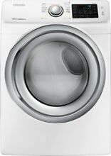 Samsung DVE45N5300W WF45N5300AW Washer and Dryer Set with Front Load in white