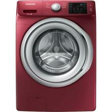 Samsung WF45N5300AF 4 5 cu ft High Efficiency Stackable Front Load Washer Merlot