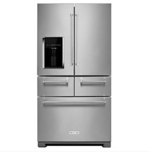 KITCHENAID 36  25 8 Cu  Ft  5 Door French Refrigerator NO BLEMISHES  KRMF606ESS