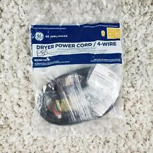 GE Dryer Power Cord  30 AMP 4 Wire Configuration  WX09X10018